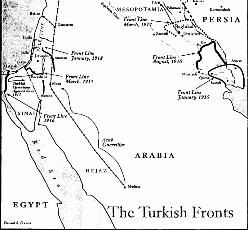 Turkish fronts in Asia Minor, 1915-1918