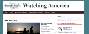 Front page of WatchingAmerica.com